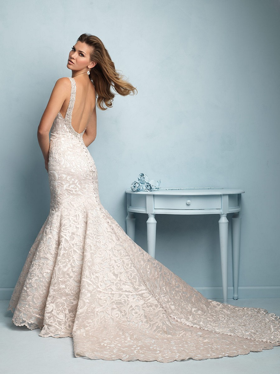 allure 9203 laser cut lace pearlescent rose gold