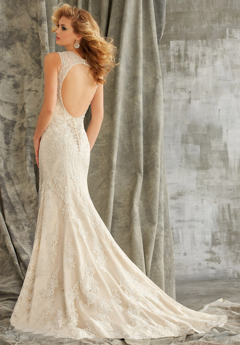 Angelina Faccenda 1352 Wedding Dress Net Trumpet Skirt