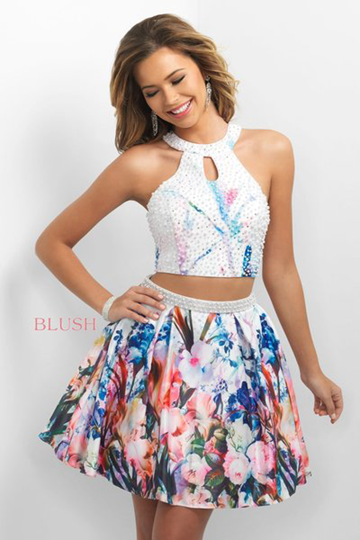 Blush 11166 Floral Two Piece Short Dress Madamebridal Com