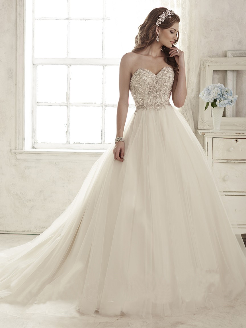 Christina wu 15583 wedding dress tulle crystal bodice for Full skirt wedding dress