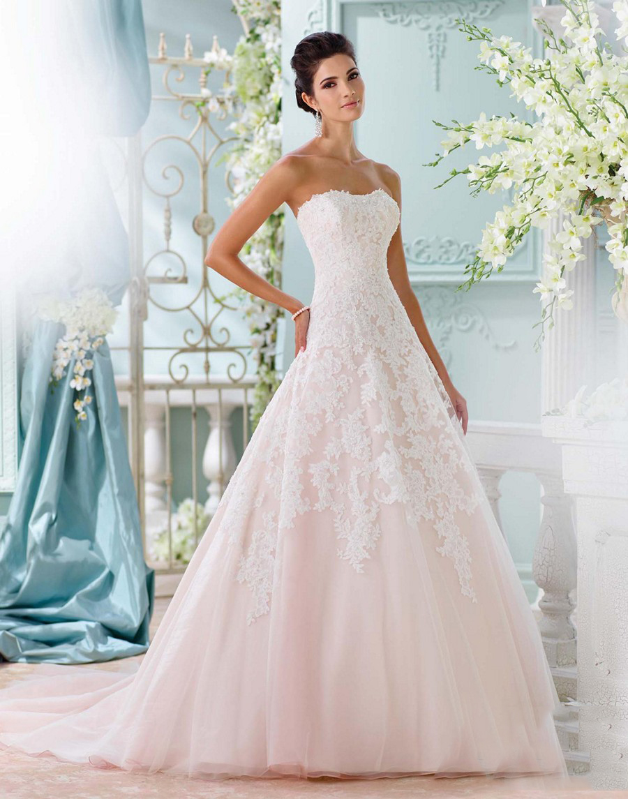 David tutera 116202 soleleil tulle organza strapless for Tulle and organza wedding dresses
