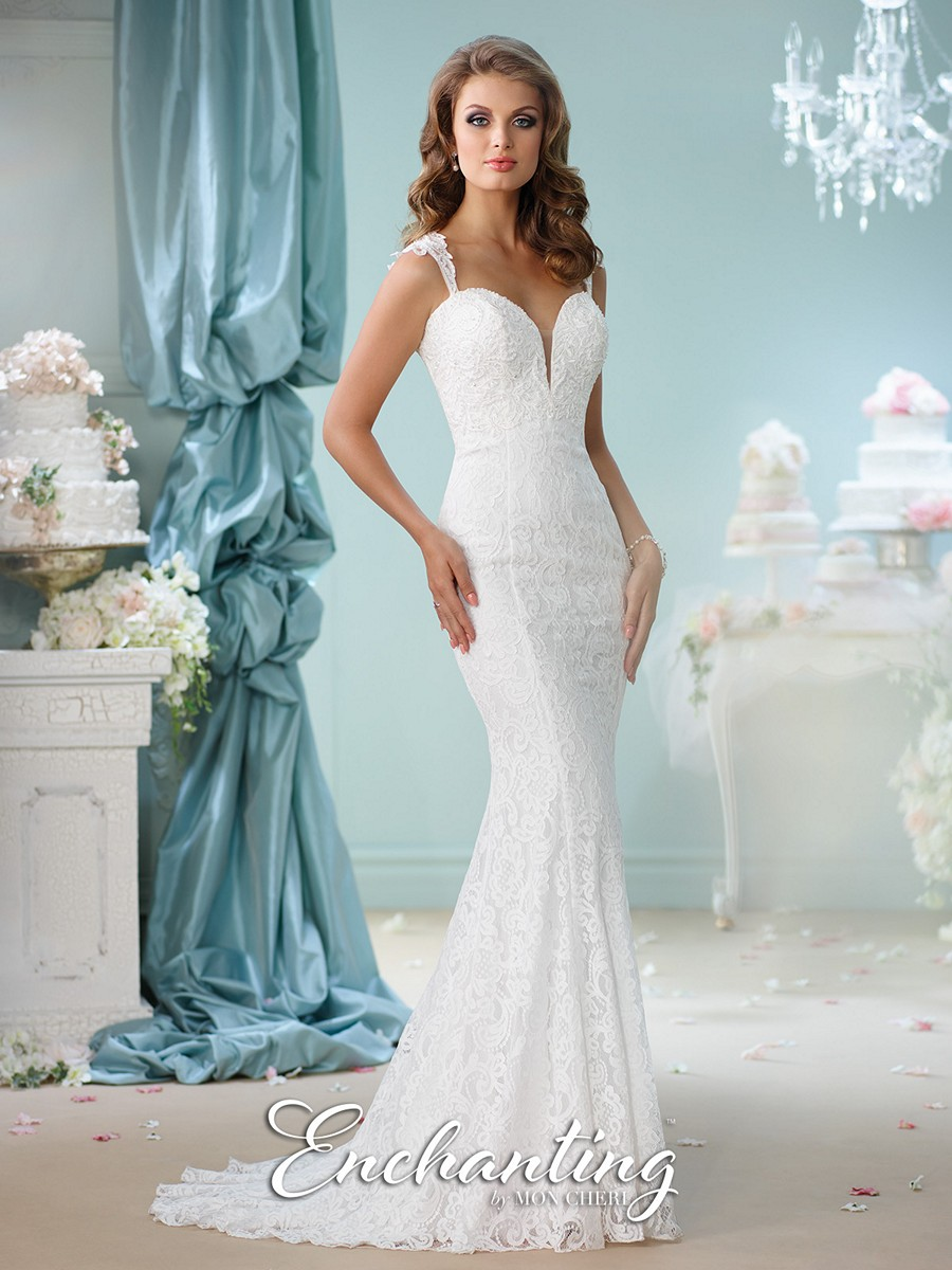 Enchanting by mon cheri 116140 lace wedding dress for Mon cheri wedding dresses