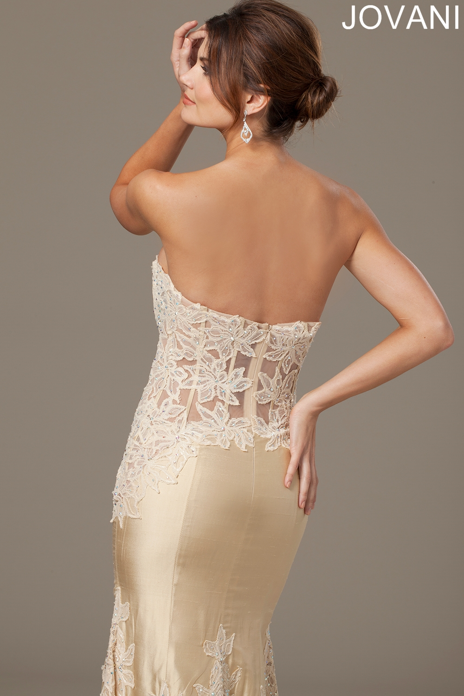 Jovani 93184 Evening Dress Strapless Mermaid