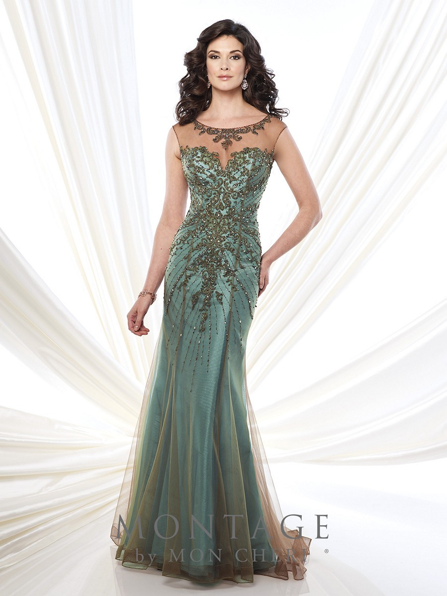 Montage 215911 Dress Two Tone Chiffon Fit And Flare