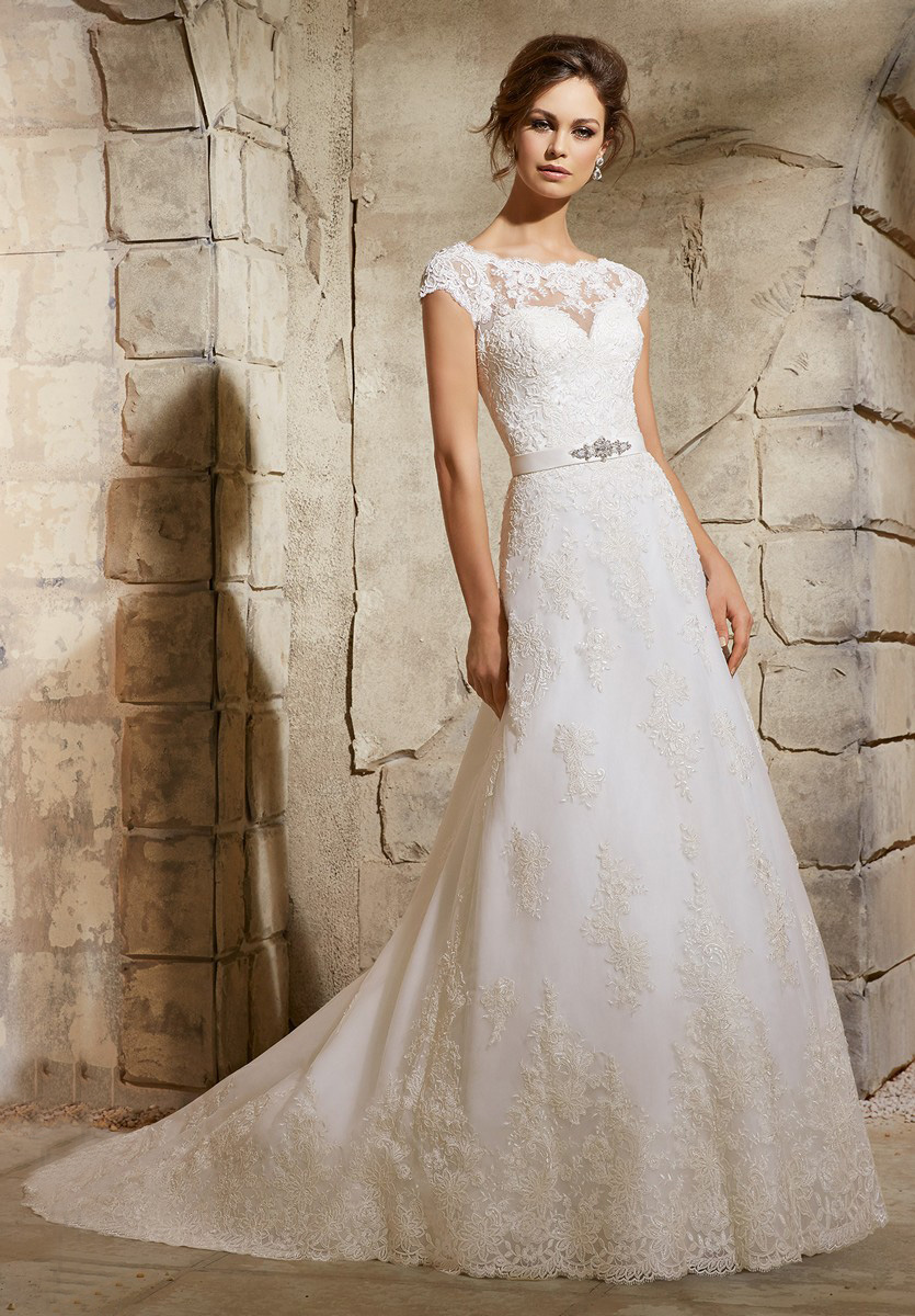 Mori lee blu 5370 wedding dress for Mori lee wedding dresses