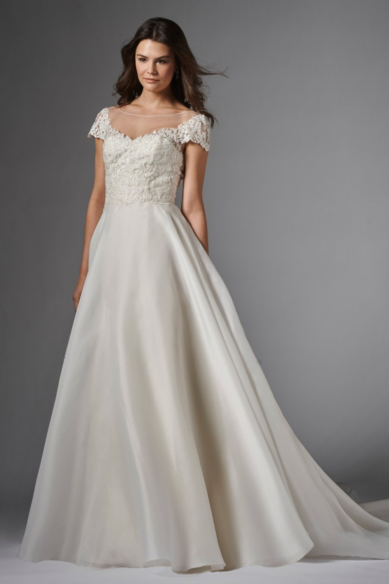 Wtoo Imara 15002 Wedding Dress Illusion Bateau Neckline
