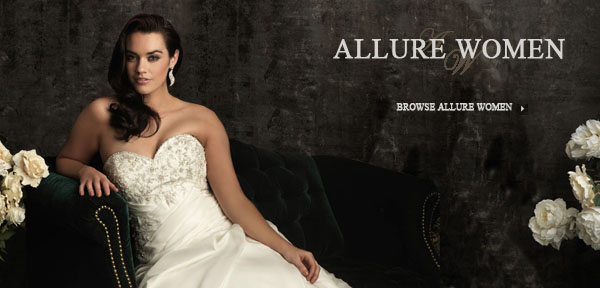 Wedding Gowns by Allure Women means Comfort and Beauty Beyond Compare