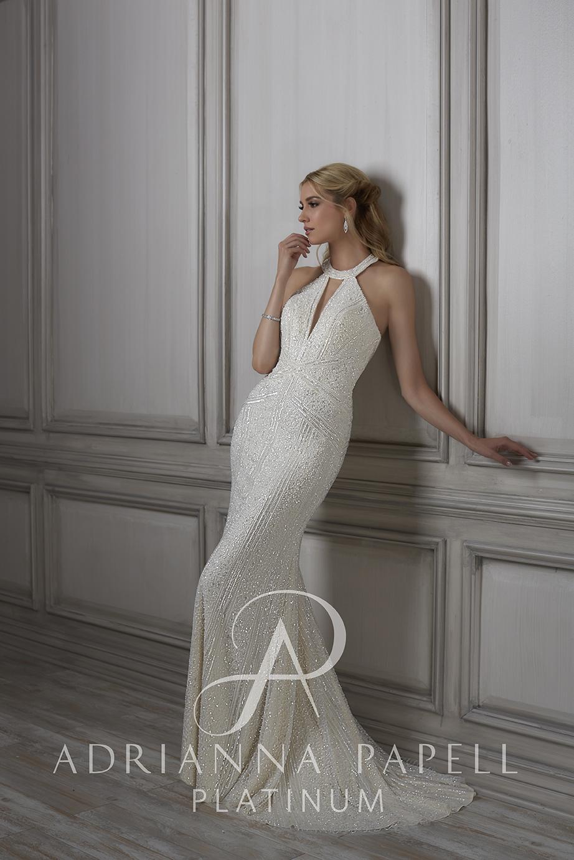 Adrianna Papell 31075 Lenora Dress - MadameBridal.com