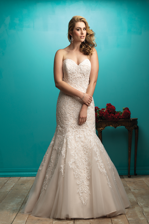 Allure Bridals W363 Plus Size Bridal Dress   MadameBridal.com