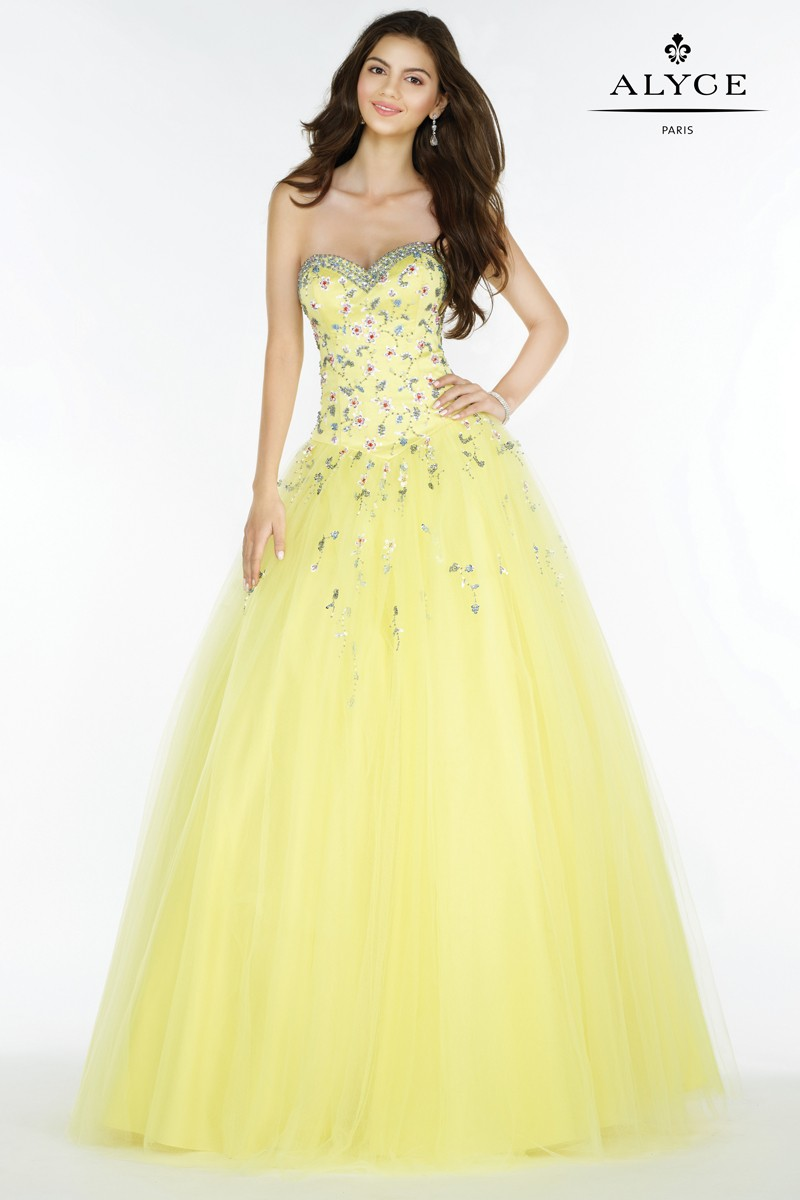 Alyce prom dresses yellow