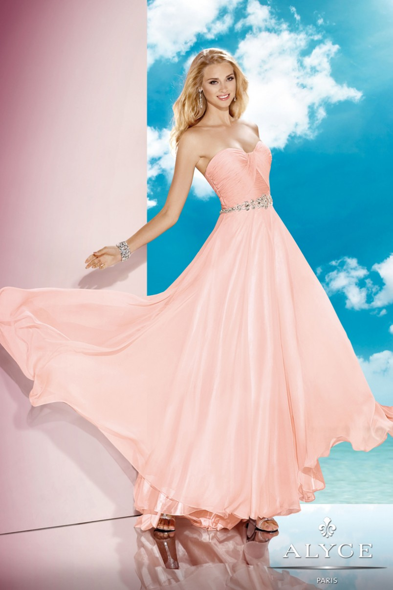 Alyce 35580 Prom Dress Strapless Ruched Bust A-Line Silhouette ...