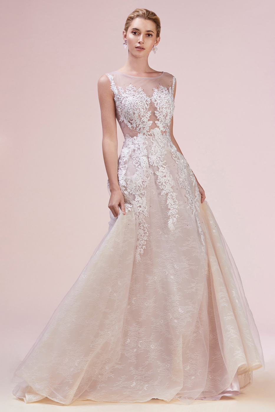 Andrea And Leo A0607 Sheer Bodice Wedding Gown