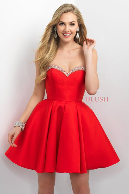 Blush 11152 Strapless Short Dress Madamebridal Com