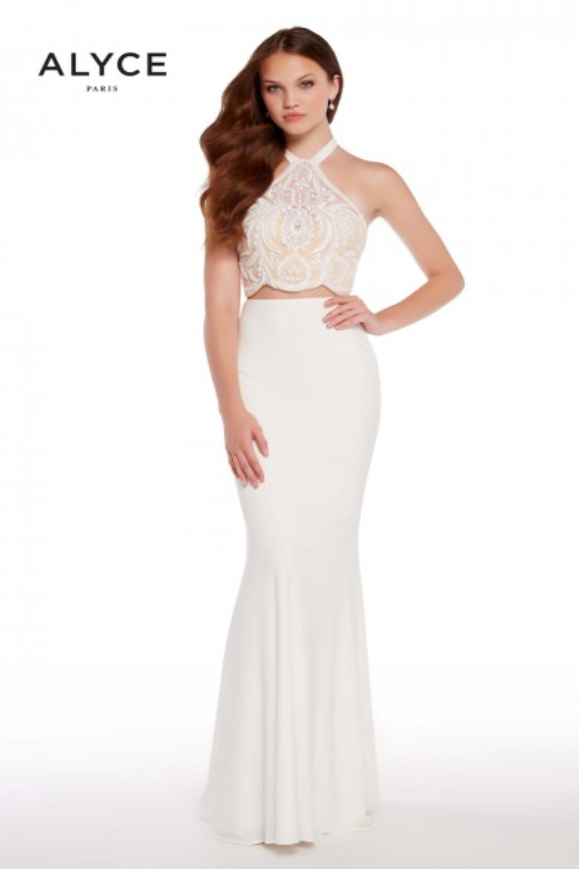 Alyce Paris 60021 Tie-Halter Long Party Dress