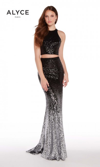 Alyce Paris 60031 Ombre-Sequined Formal Dress