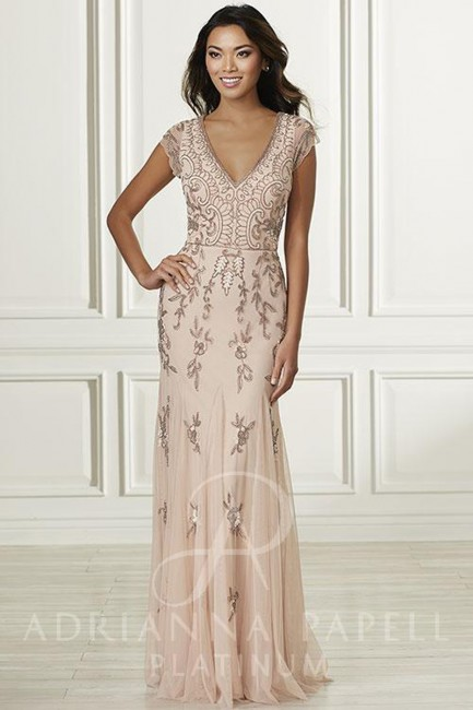 Adrianna Papell 40160 Dress Madamebridal Com