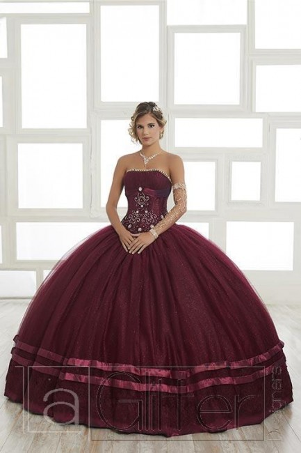 House of Wu 24026 Strapless 2 Piece Quinceanera Gown