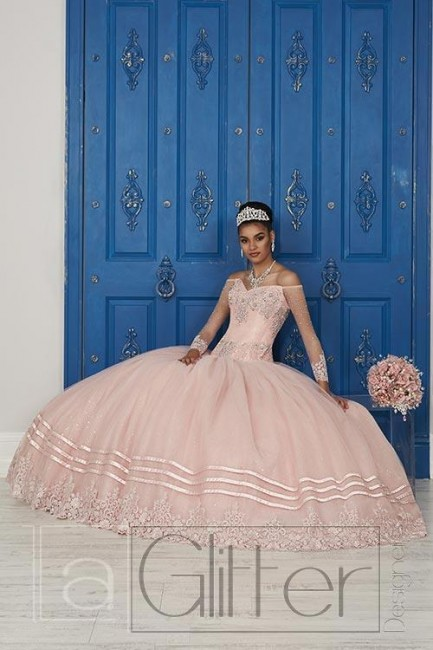 House of Wu 24039 Off the Shoulder Quince Dress