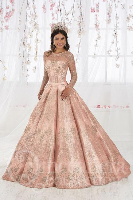 House of Wu 26917 Long Sleeve Quinceanera Gown