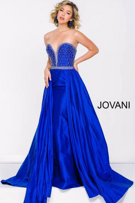 Jovani 47321 Strapless Long Dress