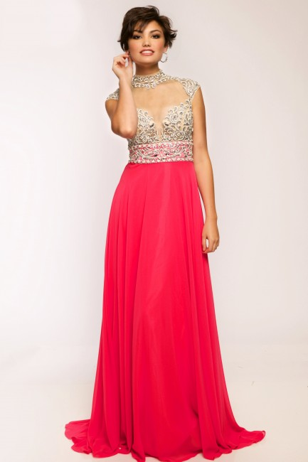 Jovani JVN20509 in Hot Pink