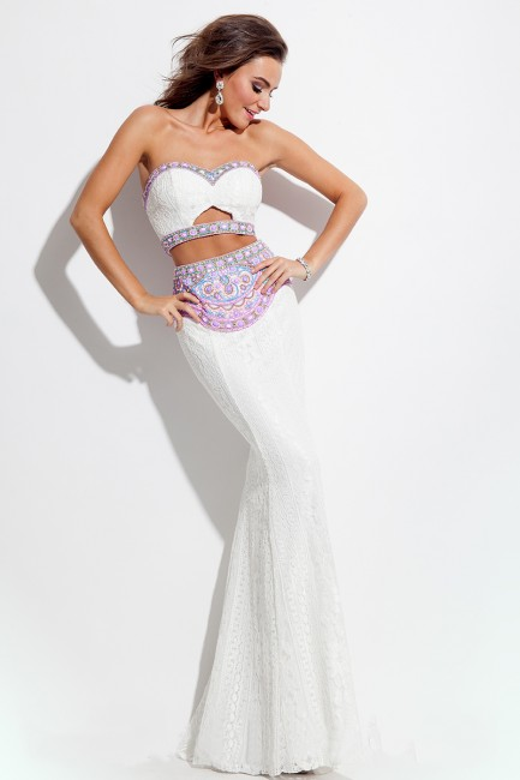 Rachel Allan 7150 Lace Sheath Prom Dress
