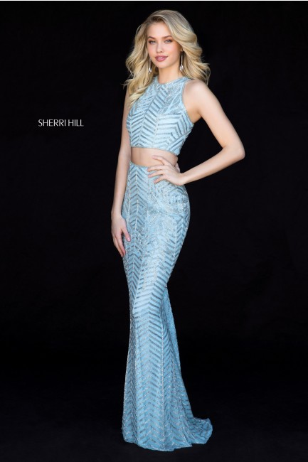 Sherri Hill 51782 Two Piece Sequin Prom Gown