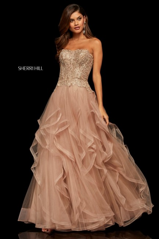 Sherri Hill 52504 Flounce Skirt Prom Gown