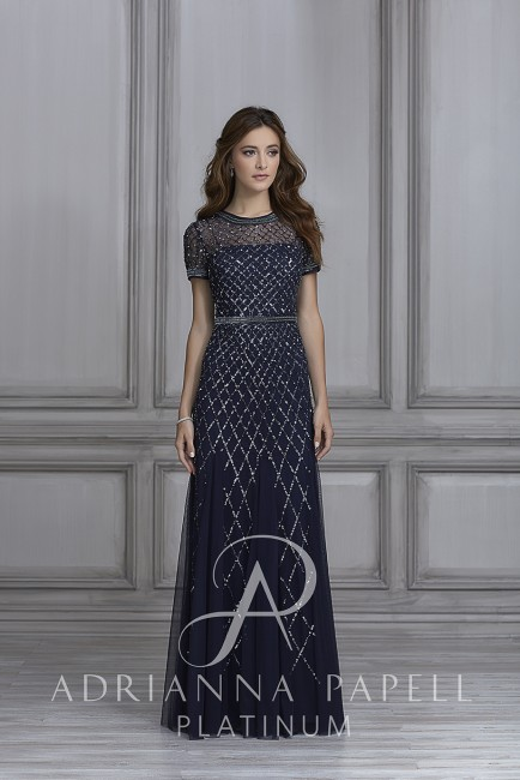 Adrianna Papell 40107 Dress Madamebridal Com