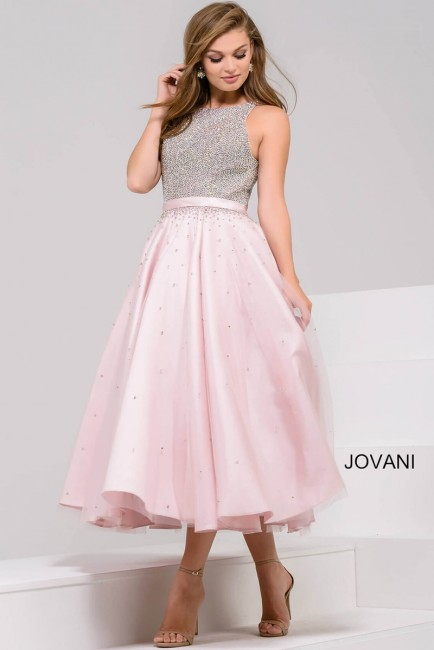 Jovani 48103 Midi-Length Dress