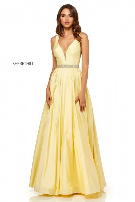 Sherri Hill 52414 A-line with Belt Formal Dress