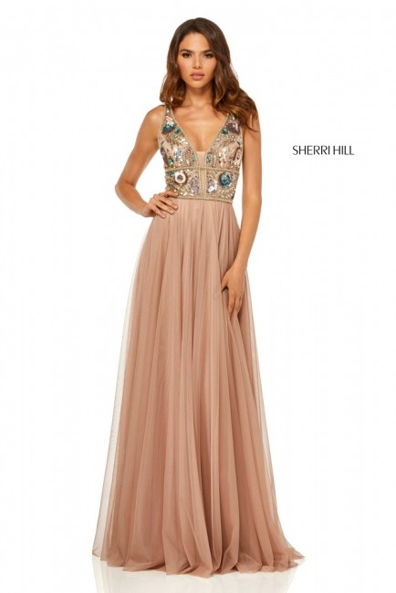 Sherri Hill 52473 Floral Top Formal Gown