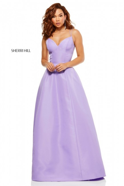 Sherri Hill 52495 Lace-Up Back Prom Dress