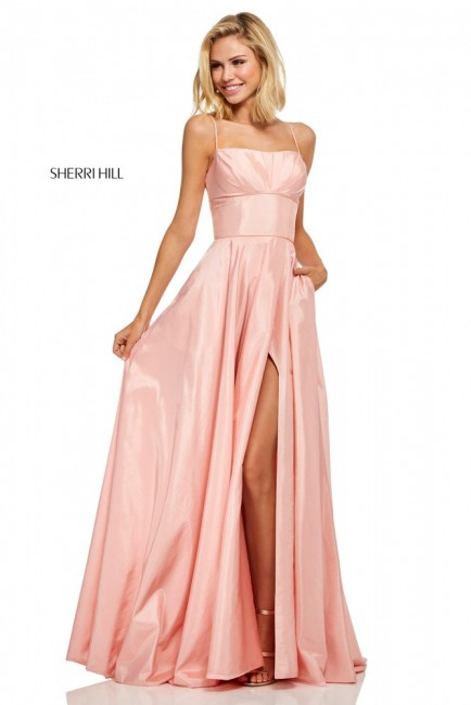 Sherri Hill 52602 Wrap Skirt with Pockets Prom Gown