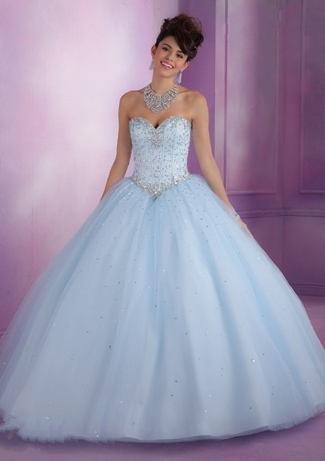 Vizcaya 89017 Modified Sweetheart Pastel Lace-up Back Ballgown
