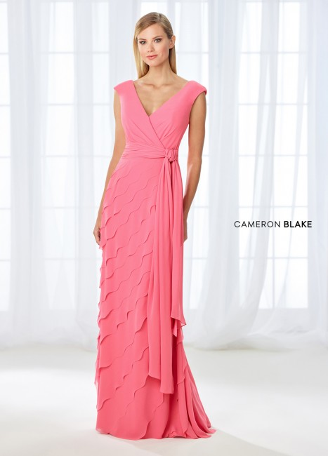 Cameron Blake 118668 Tiered Skirt Evening Gown