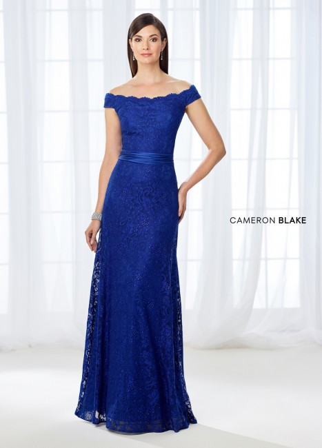 Cameron Blake 118670 Off-The-Shoulder Evening Gown