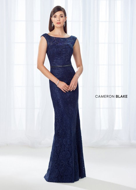 Cameron Blake 118687 Cutout Back Mother of Bride Gown