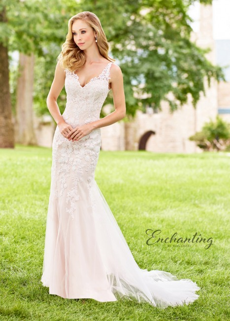 Enchanting by Mon Cheri 118153 Lace Back Beach Wedding Gown