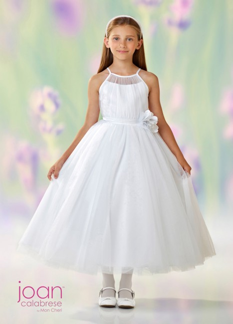 Joan Calabrese 118322 Spaghetti-Strap First Communion Dress