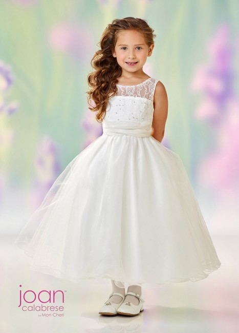 Joan Calabrese 118325 Scoop Neckline Flower Girl Dress