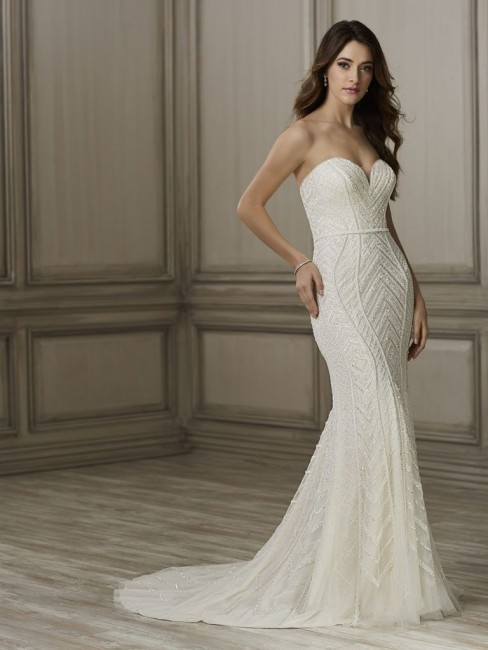 Adrianna Papell Aviana Strapless Wedding Gown