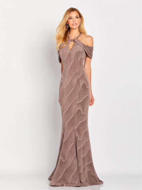 Cold Shoulder Mother of the Bride Gown