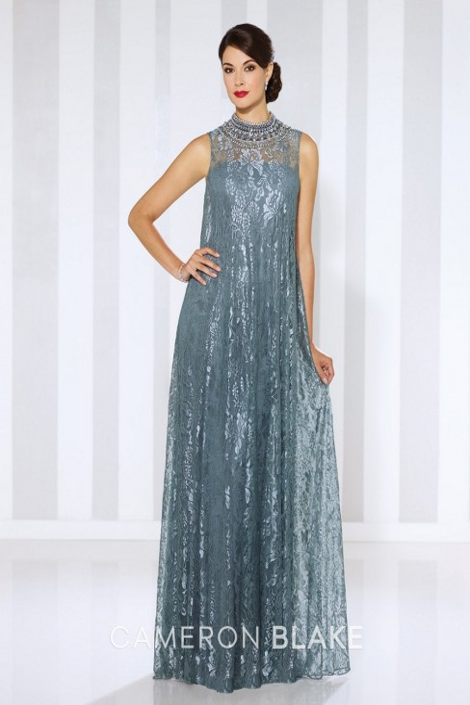 c7434ccbb7441 Cameron Blake by Mon Cheri 116670 MOB Dress Illusion Neckline |  MadameBridal.com