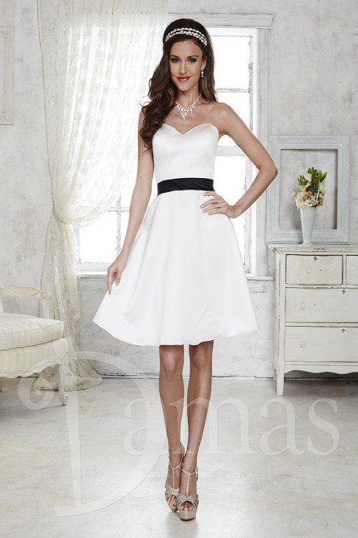 Damas 52355 Bridesmaid Dress Satin Strapless Sweetheart Bodice