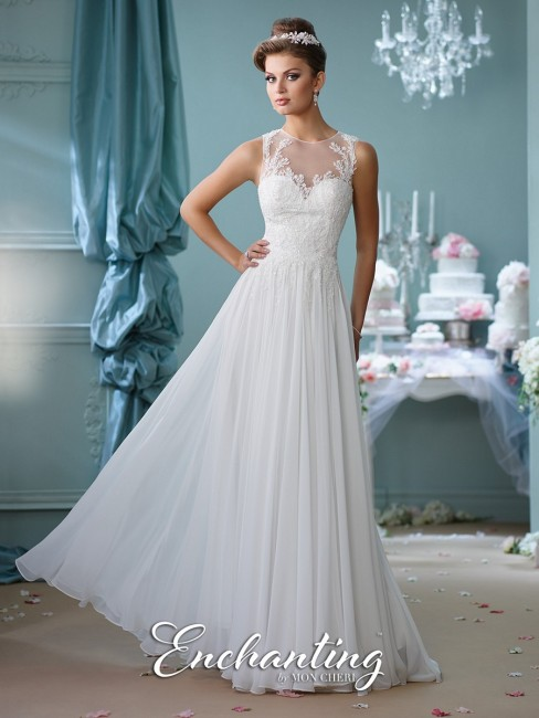 Enchanting by Mon Cheri 116127 Chiffon Wedding Dress