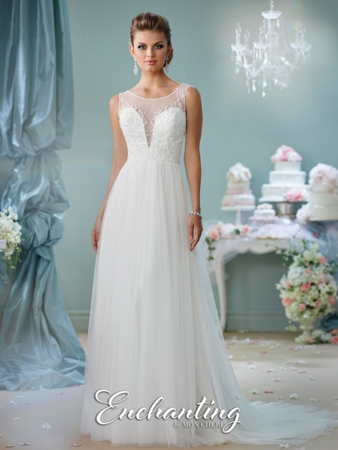 Enchanting by Mon Cheri 116130 Tulle Wedding Dress