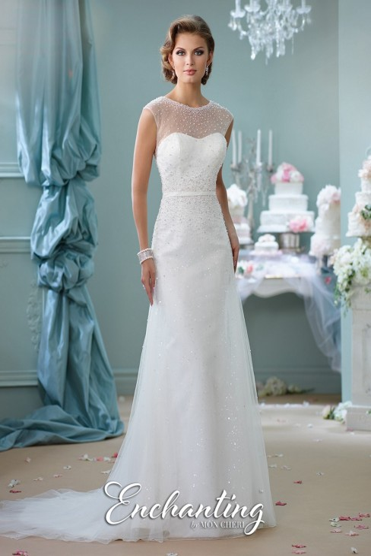 Enchanting by Mon Cheri 116142 Sequined Wedding Dress