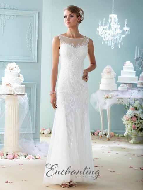 Enchanting by Mon Cheri 215113 Tulle Wedding Dress