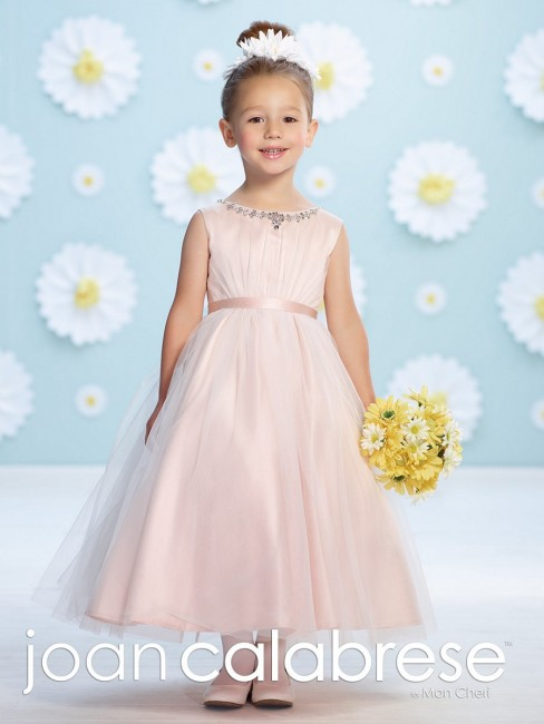 Joan Calabrese 116365 Tulle Ruched Bodice Flower Girl Dress